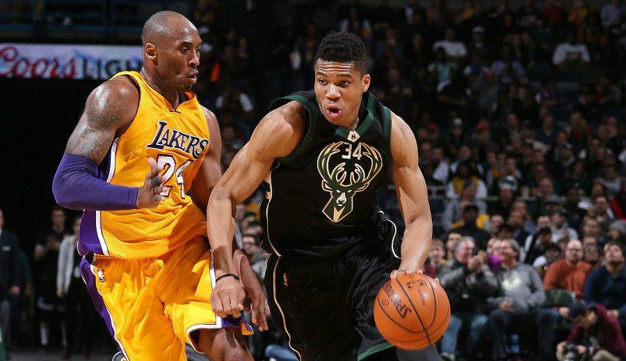 Kobe pone retos a varias estrellas de la NBA: desafía a Antetokounmpo a ser MVP del curso