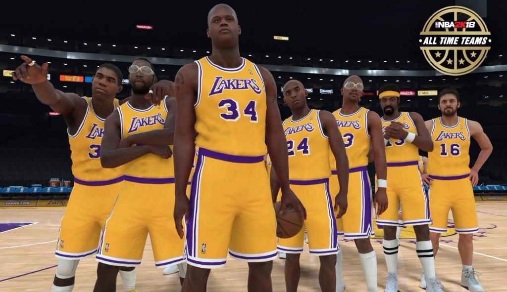 Magic, Kobe, Shaq, Gasol y Jabbar… ¿juntos? Las leyendas del NBA 2K18, en acción (Vídeo)