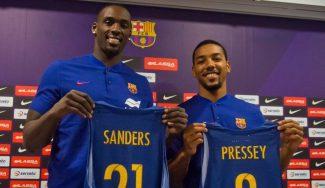 """""""Quiero ganar la Euroliga"""". Presentación con ambición de Pressey y Sanders con el Barça"""