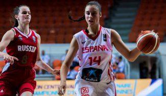 España, primera de grupo en el Sub-16: triunfo ante Rusia con doble-doble de Raquel Carrera