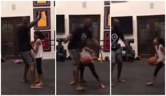 ¡Un profesor de lujo! Kobe Bryant enseña a una de sus hijas su mejor movimiento (Vídeo)