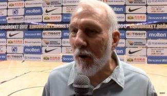 """Gregg Popovich, muy atento al Eurobasket: """"He visto jugadores con potencial NBA"""""""