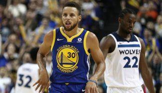 Curry maravilla al público de China: activa el modo MVP y se luce ante los Wolves (Vídeo)