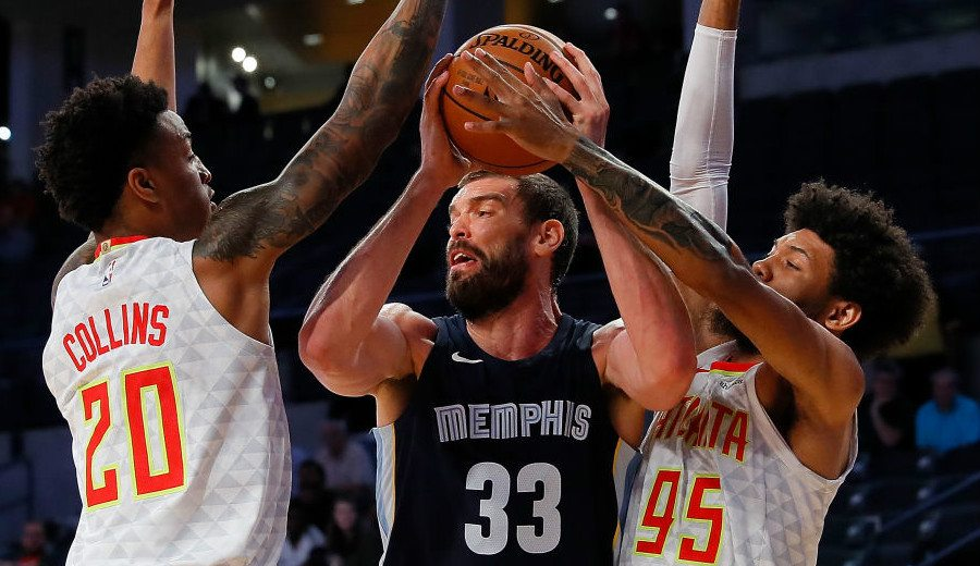 Marc Gasol se estrena en la pretemporada de los Grizzlies: 14 rebotes y taponazo (Vídeo)