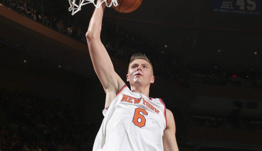 Show de Porzingis en el primer triunfo de los Knicks: su rookie europeo ya destaca (Vídeo)