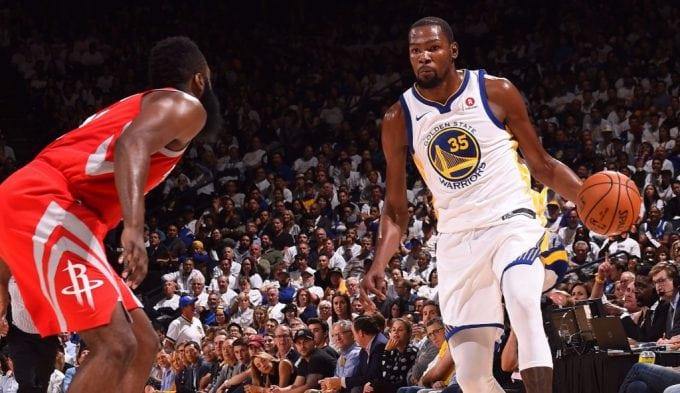 Los Rockets aguan la fiesta de los Warriors: Durant gana… pero fuera de tiempo (Vídeos)