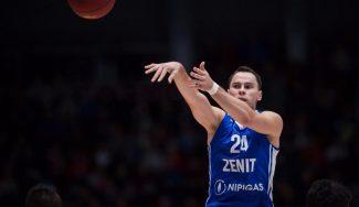 Recital de Kuric ante otro ex ACB: 27 puntos incluido el triple del triunfo del Zenit (Vídeo)