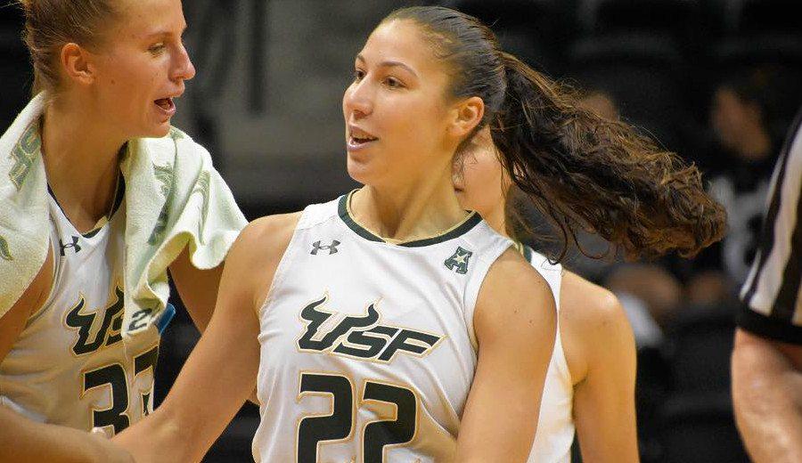 Laia Flores roza el triple-doble en el triunfo de USF: brilla la hermana de un ACB