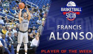 Francis Alonso, Jugador de la Semana en la SoCon tras promediar 26 puntos por partido