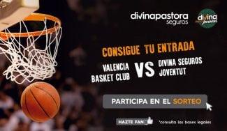 ¿Quieres ir al Valencia Basket-Divina Seguros Joventut? Participa en el sorteo de cinco entradas dobles, aquí
