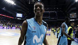 """Adams Sola, feliz por su debut ACB con el Estu: """"Siempre hay nervios"""""""