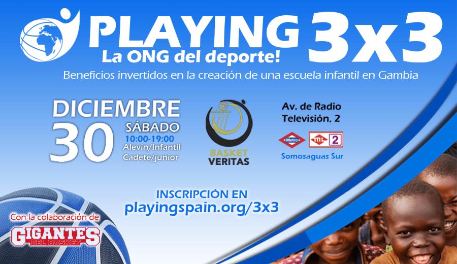 Baloncesto, competición y solidaridad en el #Playing3x3