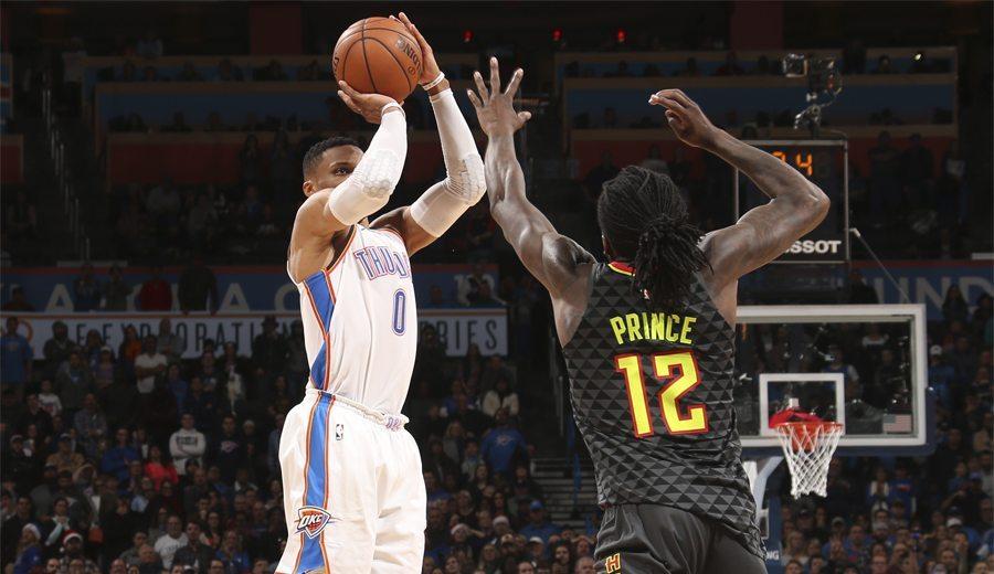 """""""Es nuestro líder"""". Triple ganador de Westbrook ante los Hawks"""