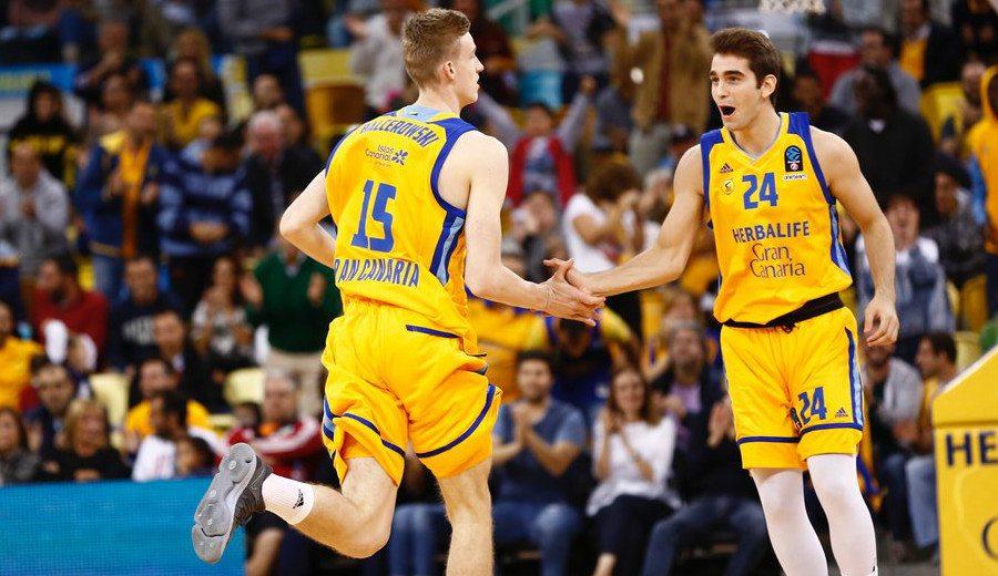Los juniors Balcerowski y Kljajic ya anotan con el Granca: primeros puntos en la Eurocup