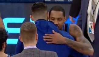 Los Knicks amargan la vuelta de Carmelo a NY: homenaje previo y abrazos al final (Vídeo)