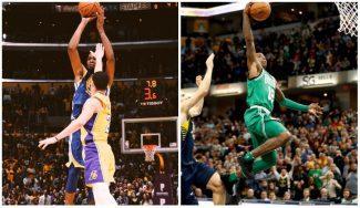 ¡Canastas ganadoras! De Durant en LA y un mate brutal de los Celtics