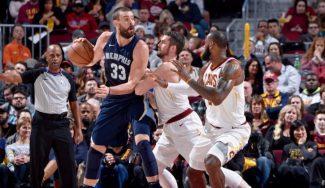 Marc y los Grizzlies casi asaltan Cleveland: recital final de LeBron para ganar (Vídeo)