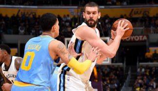 Los Grizzlies ganan en LA y Marc da un consejo a la revelación de Lakers