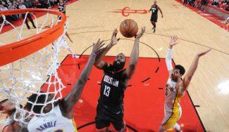 Tremendo Rockets-Lakers: Harden brilla, se lesiona y decide Chris Paul