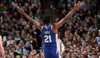 Embiid celebra que será All-Star: se sale en Boston y sueña con playoffs