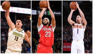 Noche de numerazos en la NBA: Jokic y Anthony ganan; Booker, sin premio