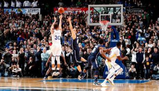 Triplazo de Curry para ganar en Dallas: Nowitzki y Stephen lo analizan
