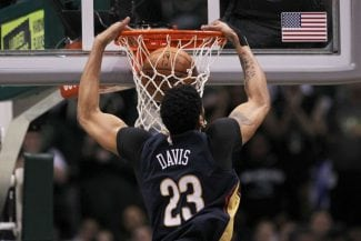 Anthony Davis, dominante ante los New York Knicks