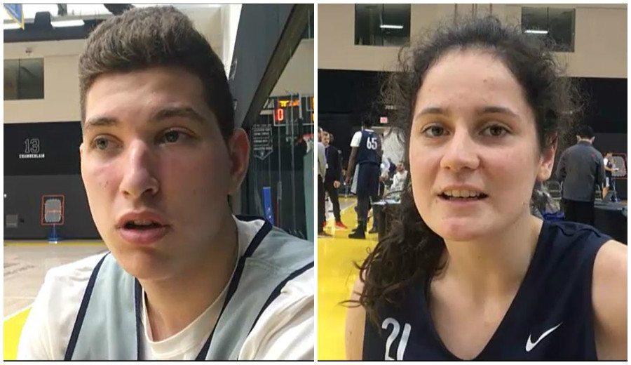 Joel Parra y Alba Sánchez valorar su participación en el BwB NBA Global Camp