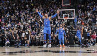 Los Thunder ganan con otro triple sobre la bocina de Russell Westbrook