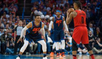 Thunder-Blazers: tángana con Westbrook de por medio y final apretado