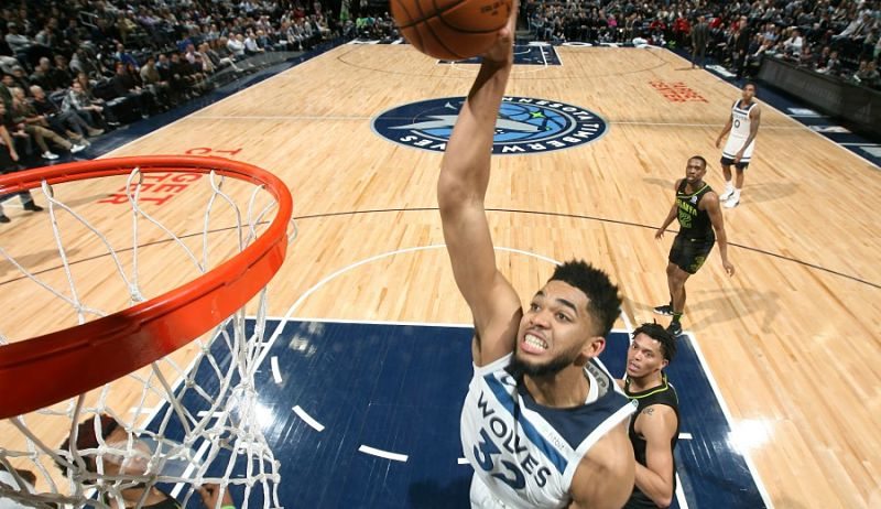 Karl-Anthony Towns se pone a la altura de Shaquille O'Neal