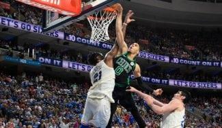 Jayson Tatum: récord histórico de los Celtics y vacile a Embiid