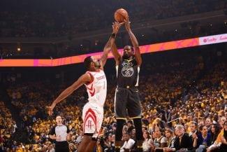 Kevin Durant se arrepiente de su error en la recta final contra los Rockets