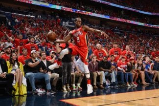 Anthony Davis y un genial Rajon Rondo tumban a los Warriors