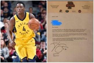 La emotiva carta de Victor Oladipo a un niño con leucemia