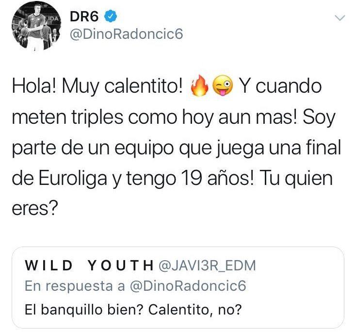 Dino Radoncic (Real Madrid); Captura: Gigantes / Twitter (@DinoRadoncic6)