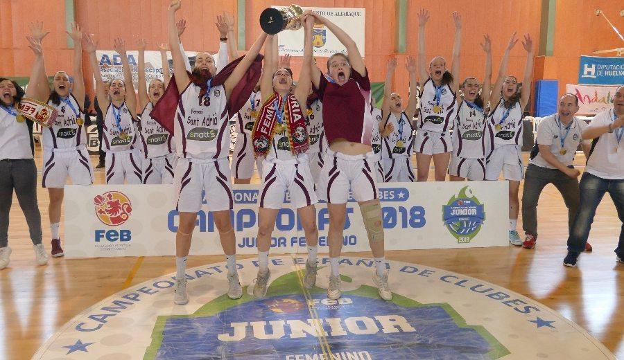 El Snatt's Femení Sant Adriá triunfa en el Campeonato de España Junior Femenino