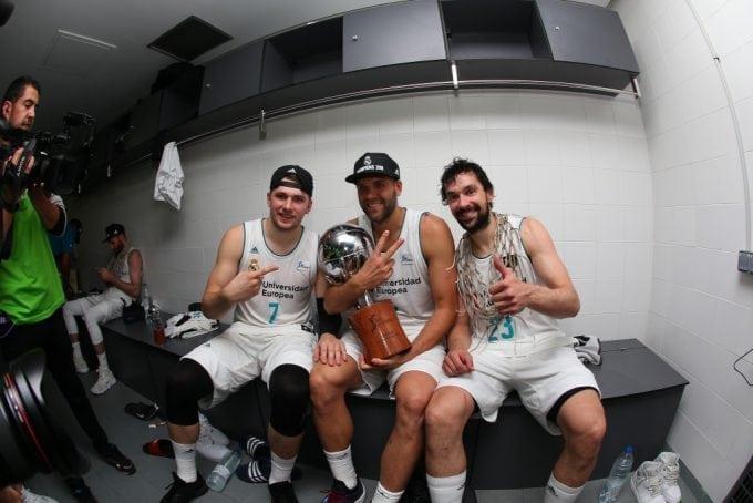 Las mejores imágenes de la celebración del Real Madrid, campeón de la Liga Endesa