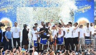 Lo mejor de la celebración del título de Golden State Warriors