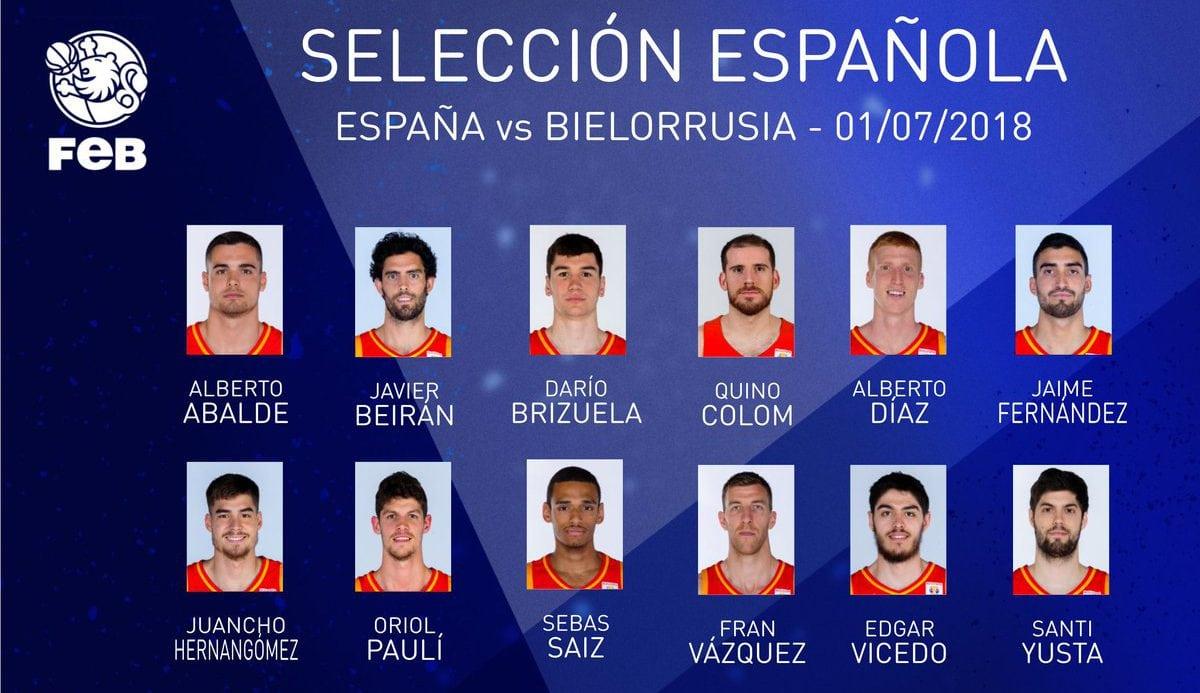España-Bielorrusia: cuatro novedades en la selección y dos debutantes