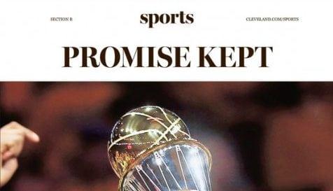 'Promesa cumplida': así despide la prensa de Cleveland a LeBron James