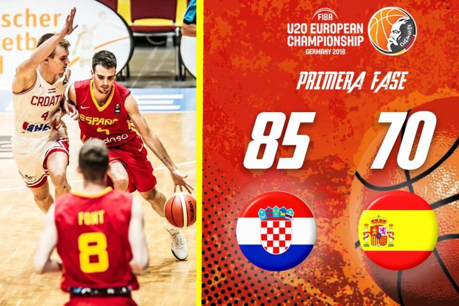 Europeo U20 Masculino: España pierde el liderazgo del Grupo B ante Croacia