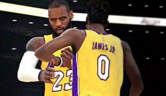 LeBron James ya juega en los Lakers con su hijo… en el NBA 2K