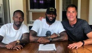 LeBron James ya viste de púrpura y oro: primer contacto con los Lakers