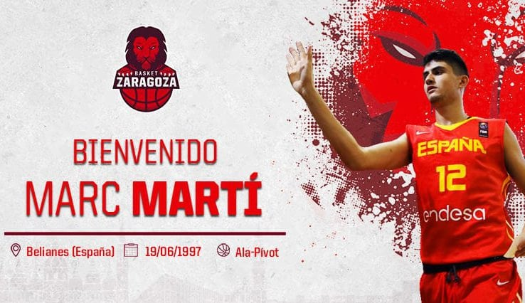Marc Martí, internacional en categorías inferiores, regresa al Tecnyconta Zaragoza