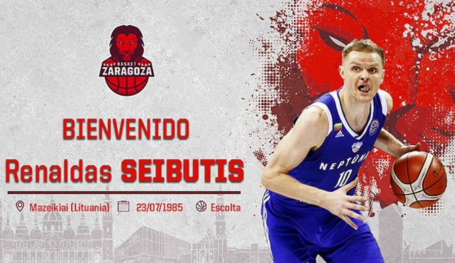 Renaldas Seibutis aterriza en el Basket Zaragoza