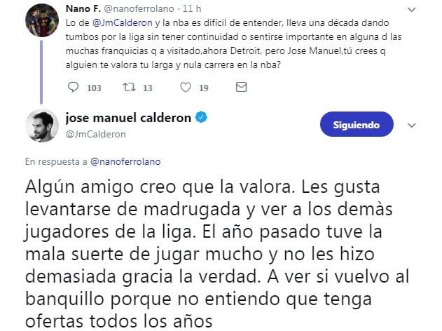José Manuel Calderón; Captura: Twitter / @JMCalderon