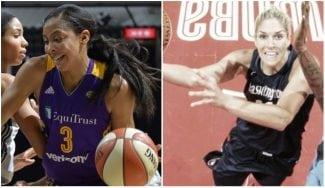 Los equipos del All-Star de la WNBA, con Candace Parker y Elena Delle Donne al frente