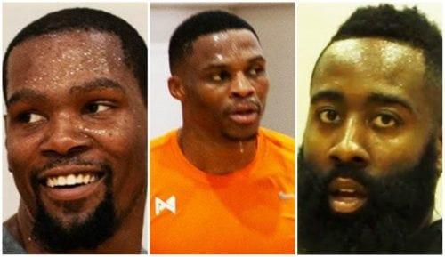 Durant, Westbrook y Harden, juntos de nuevo en la cancha