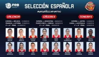 La lista de 16 jugadores para el Mundial Femenino de Tenerife